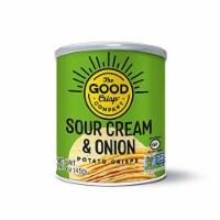 The Good Crisp Company Sour Cream & Onion Crisps Gluten Free , 1.6oz (Pack of 12) - 12