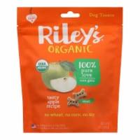 Riley's Organics Organic Dog Treats, Apple Recipe, Small  - Case of 6 - 5 OZ - Case of 6 - 5 OZ each