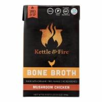 Kettle & Fire Mushroom Chicken Bone Broth  - Case of 6 - 16.9 OZ - Case of 6 - 16.9 OZ each
