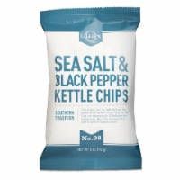 Lillie's Q Sea Salt & Black Pepper Kettle Chips Southern Tradition 5oz (Pack of 12) - 12