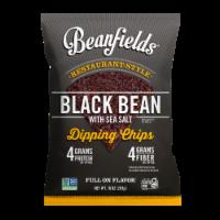 Beanfields Black Bean & Sea Salt Bean Chips, 10oz/4 count, Vegan Snack - 10oz/4 count