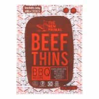 The New Primal - Beef Thins BBQ Paleo - Case of 8 - 1 OZ - 1 OZ