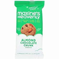 Maxines Heavenly Cookies Almond Chocolate Chunk Cookies Gluten Free, 1.8 oz (Pack of 10) - 10