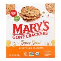 Mary's Gone Crackers Super Seed - Everything - Case of 6 - 5.5 oz. - Case of 6 - 5.5 OZ each