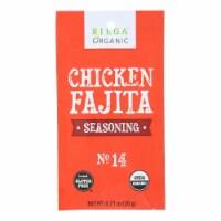 Riega Organic Chicken Fajita Seasoning Mix  - Case of 8 - .71 OZ - .71 OZ