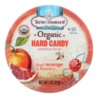 Torie And Howard Organic Hard Candy - Blood Orange And Honey - 2 Oz - Case Of 8 - 2 OZ