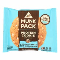 Munk Pack - Protein Cookie - Coconut White Chocolate Chip Macadamia - Case of 6 - 2.96 oz.