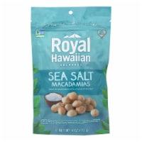 Royal Hawaiian Orchards Macadamias, Sea Salt  - Case of 6 - 4 OZ - 4 OZ