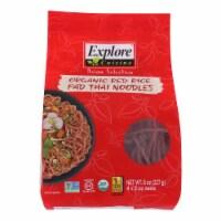 Explore Cuisine Organic Red Rice Pad Thai Noodles - Case of 6 - 8 OZ - 8 OZ