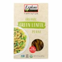 Explore Cuisine Organic Green Lentil Penne - Lentil Penne - Case of 6 - 8 oz. - 8 OZ