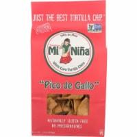 Mi Nina White Corn Tortilla Chips Pico De Gallo Naturally Gluten Free, 12oz (Pack of 9)