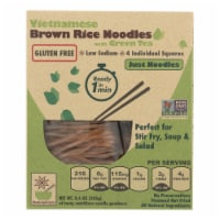 Star Anise Foods Noodles -Brown Rice -Vietnamese - w Organic Green Tea - 8.6 oz - case of 6 - Case of 6 - 8.6 OZ each