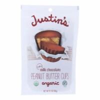 Justin's Nut Butter Peanut Butter Cups - Organic - Milk Chocolate - Mini - Case of 6 - 4.7 oz - Case of 6 - 4.7 OZ each