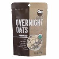 Overnite Organics - Overnight Oats Banana Chips - Case of 8 - 2 OZ - 2 OZ