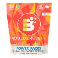 Boulder Clean Power Packs Natural Dishwasher Detergent Effectively  - Case of 6 - 1.8 LB - Case of 6 - 1.8 LB each
