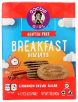 Goodie Girl Gluten Free Breakfast Biscuits Cinnamon Brown Sugar 7oz Pk6
