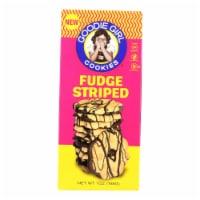 Goodie Girl Cookies - Cookies - Fudge Striped - Case of 6 - 7 oz.