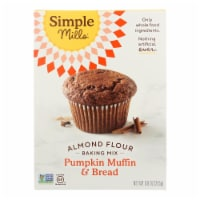 Simple Mills Almond Flour Pumpkin Muffin and Bread Mix - Case of 6 - 9 oz. - 9 OZ