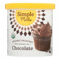 Simple Mills Organic Frosting - Chocolate - Case of 6 - 10 oz - 10 OZ