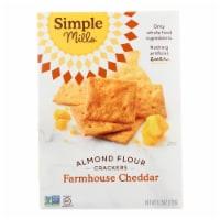 Simple Mills Farmhouse Cheddar Almond Flour Crackers - 6 ct / 4.25 oz