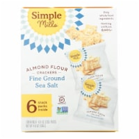 Simple Mills Fine Ground Sea Salt Almond Flour Crackers - Case of 6 - 4.9 OZ - Case of 6 - 4.9 OZ each