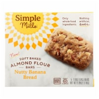 Simple Mills - Bar Sft Baked Nty Ban Bread - Case of 6 - 5.99 OZ