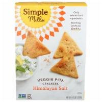 Simple Mills Veggie Pita Crackers Himalayan Salt, 4.25 oz (Pack of 6) - 6