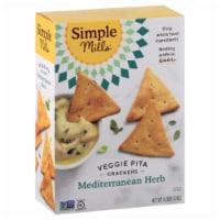 Simple Mills Veggie Pita Crackers Mediterranean Herb, 4.25 oz (Pack of 6) - 6