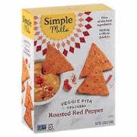 Simple Mills Veggie Pita Crackers Roasted Red Pepper, 4.25 oz (Pack of 6) - 6