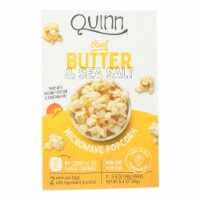 Quinn - Microwave Popcorn - Butter and Sea Salt - Case of 6 - 6.9 oz. - Case of 6 - 6.9 OZ each