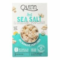 Quinn - Microwave Popcorn - Just Sea Salt - Case of 6 - 7 oz. - Case of 6 - 7 OZ each