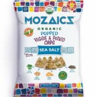 Mozaicz Organic Popped Veggie & Potato Chips Sea Salt, 3.5 oz (Pack of 12)