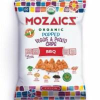 Mozaicz Organic Popped Veggie & Potato Chips BBQ, 3.5 oz (Pack of 12) - 12