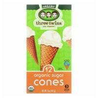 Three Twins Cone - Sugar - Case of 8 - 5 oz.