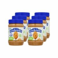 Peanut Butter & Co - Peanut Butter No Sugar Smooth - Case of 6 - 16 OZ - 16 OZ