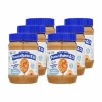 Peanut Butter & Co - Peanut Butter No Sugar Crnchy - Case of 6 - 16 OZ - 16 OZ
