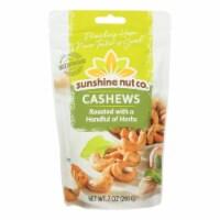 Sunshine Nut Company Cashews - Herbed - Roasted - Case of 6 - 7 oz