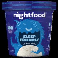 Nightfood, Sleep Expert Approved - Nighttime Ice Cream, Full Moon Vanilla, Pint (8 Count) - 8 Count