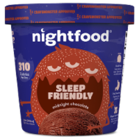 Nightfood, Sleep Expert Approved - Nighttime Ice Cream, Midnight Chocolate, Pint (8 Count) - 8 Count