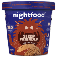 Nightfood, Sleep Expert Approved - Nighttime Ice Cream, Cold Brew Decaf, Pint (8 Count) - 8 Count
