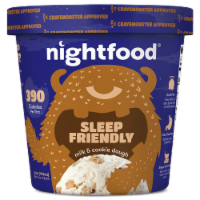 Nightfood, Sleep Expert Approved - Nighttime Ice Cream, Milk and Cookie Dough, Pint (8 Count)