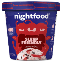 Nightfood, Sleep Expert Approved - Nighttime Ice Cream, Cherry Eclipse, Pint (8 Count) - 8 Count