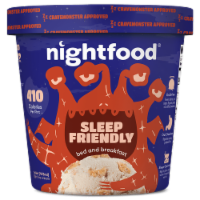 Nightfood, Sleep Expert Approved - Nighttime Ice Cream, Bed and Breakfast, Pint (8 Count)