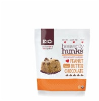 E&C's Snacks Heavenly Hunks Cookies  Peanut Butter Chocolate Gluten Free, 6oz (Pack of 6) - 6
