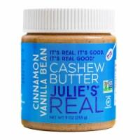 Julie's Real Gluten Free Cinnamon Vanilla Bean Cashew Butter, 9 oz [Pack of 6] - 6