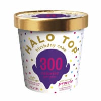 Halo Top Ice Cream Pint, Birthday Cake, 16 Ounce (8 count)