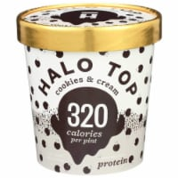 Halo Top Ice Cream Pint, Cookies & Cream, 16 oz. (8 count)