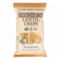 The Daily Crave - Lentil Chip Smoked Gouda - Case of 8 - 4.25 OZ - 4.25 OZ