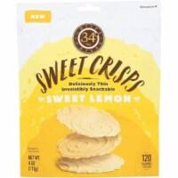 34 Degrees Sweet Crisps Sweet Lemon, 4oz (Pack of 12)