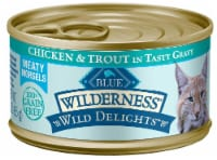Blue Buffalo  Wilderness Cat Wild Delights    Chicken and Trout